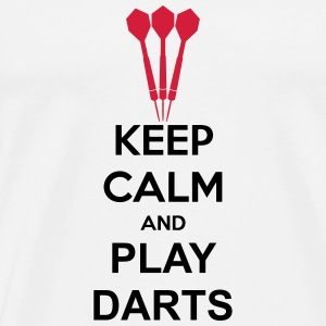 Keep Calm And Play Darts Tee shirts - T-shirt Premium Homme