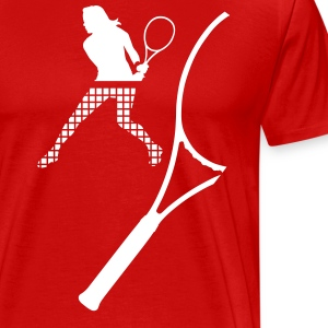 tennis racket T-Shirts - Men's Premium T-Shirt
