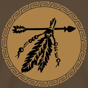 Arrow with feathers, protection & power symbol T-Shirts - Männer Premium T-Shirt