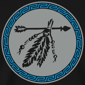Arrow with feathers, Native American Indian tribes T-shirts - Herre premium T-shirt