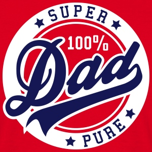 100 percent PURE SUPER DAD 2C T-Shirt BW - Männer T-Shirt