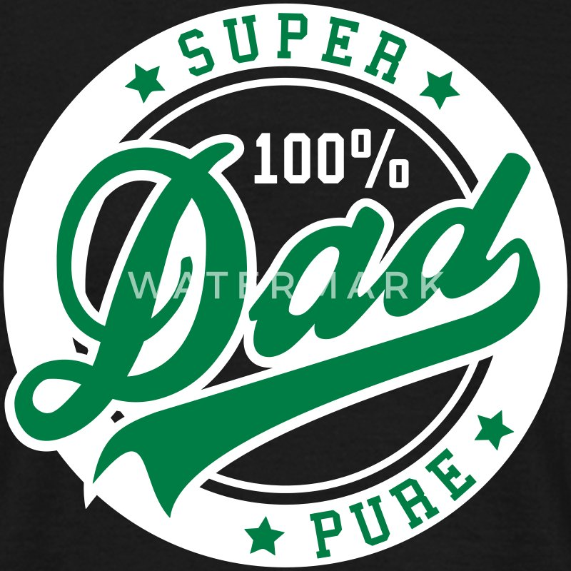 100 percent PURE SUPER DAD 2C T-Shirt GW - Männer T-Shirt