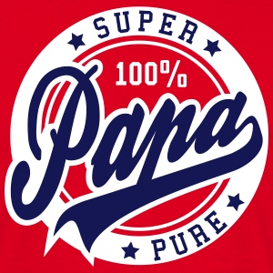 100 percent PURE SUPER PAPA 2C T-Shirt BW - Men's T-Shirt