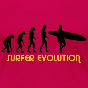 surfer evolution T-Shirts - Frauen Premium T-Shirt