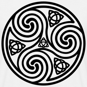 Celtic Triple Spiral T-shirt - Men's T-Shirt