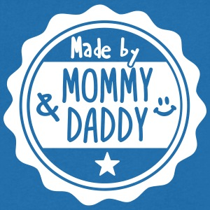 Made by Mommy and Daddy T-shirts - Mannen T-shirt met V-hals
