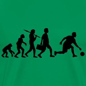 Evolution Of Bowling T-shirts - Mannen Premium T-shirt