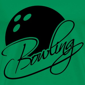 Bowling Ball Text Logo Design T-Shirts - Men's Premium T-Shirt