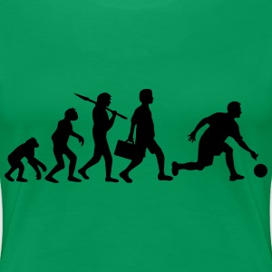 Evolution Of Bowling T-Shirts - Women's Premium T-Shirt