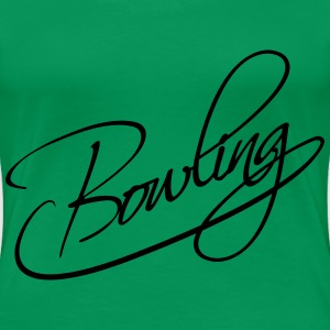 Bowling Text Logo Design T-Shirts - Frauen Premium T-Shirt