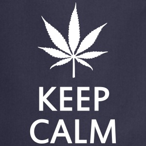 keep calm and smoke cannabis weed pot Kookschorten - Keukenschort