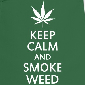keep calm and smoke weed  Aprons - Cooking Apron