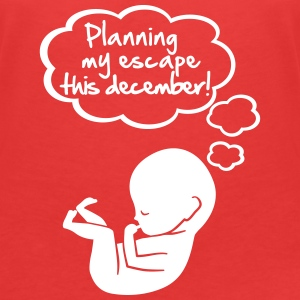 Planning my escape this december T-Shirts - Women's V-Neck T-Shirt