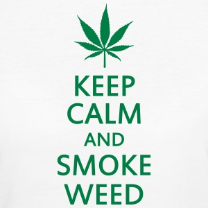 keep calm and smoke weed Tee shirts - T-shirt Bio Femme