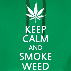 keep calm and smoke weed Sweat-shirts - Sweat-shirt à capuche Premium pour hommes