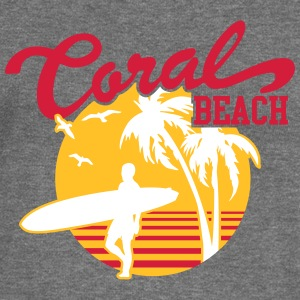 Coral Beach Surfers Heaven Hoodies & Sweatshirts - Women's Boat Neck Long Sleeve Top