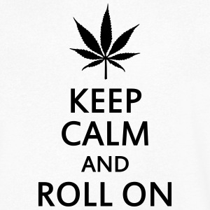 keep calm and roll on T-skjorter - T-skjorte med V-utsnitt for menn