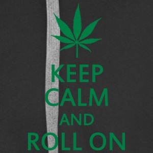 keep calm and roll on Gensere - Premium Hettejakke for menn