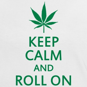 keep calm and roll on T-shirts - Kontrast-T-shirt dam