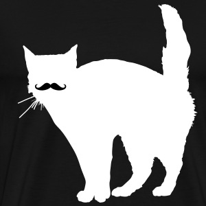 Cat Moustache T-Shirts - Men's Premium T-Shirt