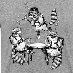 Racoon Underwater Gin Party T-Shirts - Men's Premium T-Shirt