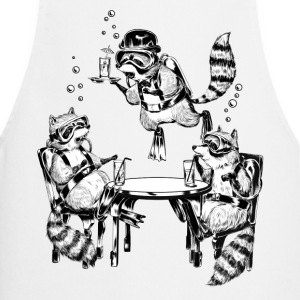 Racoon Underwater Gin Party  Aprons - Cooking Apron