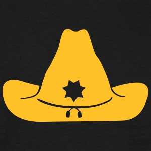 Sheriff hat - Sheriff Hut T-shirts - Mannen T-shirt