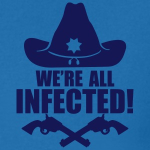 We are all infected T-shirts - T-shirt med v-ringning herr