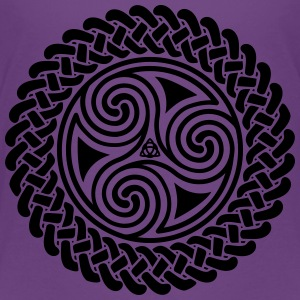 Triple Spiral in Celtic band T-shirt - Kids' Premium T-Shirt