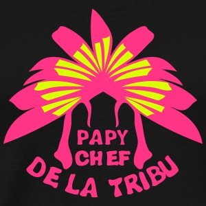 papy chef tribu coiffe indienne Tee shirts - T-shirt Premium Homme