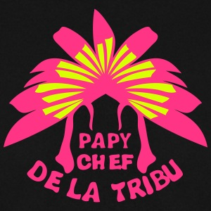 papy chef tribu coiffe indienne Sweat-shirts - Sweat-shirt Homme