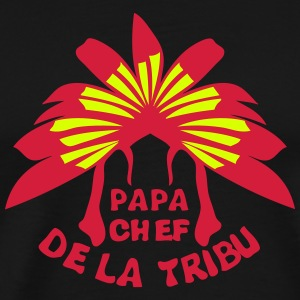 papa chef tribu coiffe indienne Tee shirts - T-shirt Premium Homme