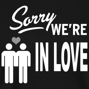 Sorry we are in love - boys T-shirts - Mannen Premium T-shirt