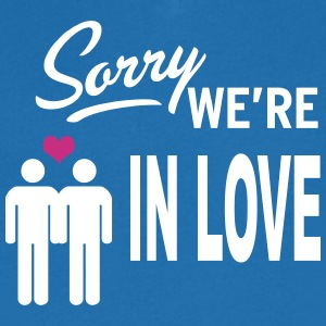 Sorry we are in love - boys Tee shirts - T-shirt Homme col V