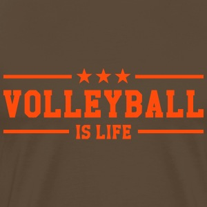 Volleyball is life T-shirts - Herre premium T-shirt