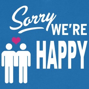 Sorry we are happy - boys T-shirts - Mannen T-shirt met V-hals