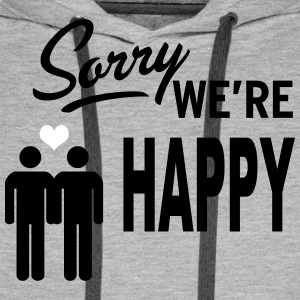 Sorry we are happy - boys Sweat-shirts - Sweat-shirt à capuche Premium pour hommes