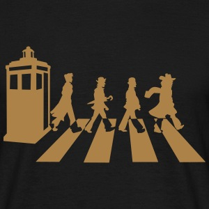 Zwart Dr Who? T-shirts - Mannen T-shirt