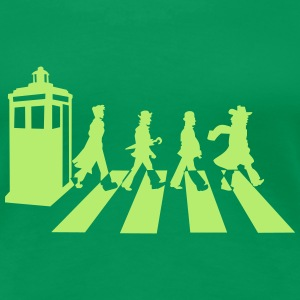 Kelly green Dr Who? T-Shirts - Women's Premium T-Shirt