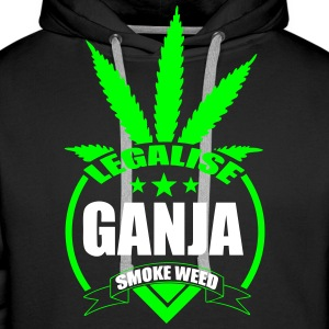 Sweat ganja star fluo - Sweat-shirt à capuche Premium pour hommes