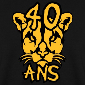 40 ans cougar anniversaire femme animal Sweat-shirts - Sweat-shirt Homme