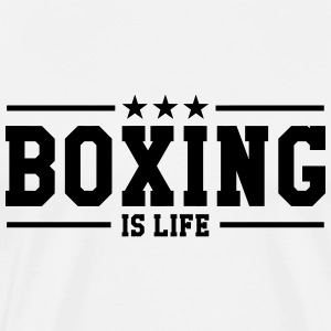 Boxing is life ! T-shirts - Mannen Premium T-shirt