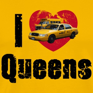 I love Queens School Bus King of Queens NYC T-Shirts - Männer Premium T-Shirt
