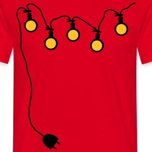 Light chain with connector around - V2 - Men's T-Shirt