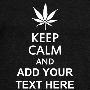 keep calm and ... cannabis leaf Sweaters - Vrouwen trui met U-hals van Bella