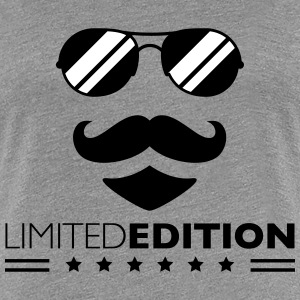 Limited Edition Cool Mustache Man Design T-Shirts - Women's Premium T-Shirt