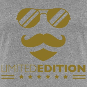 Limited Edition Cool Mustache Man Design T-skjorter - Premium T-skjorte for kvinner