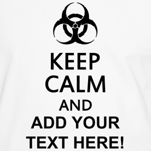 keep calm and toxic  Camisetas - Camiseta contraste hombre