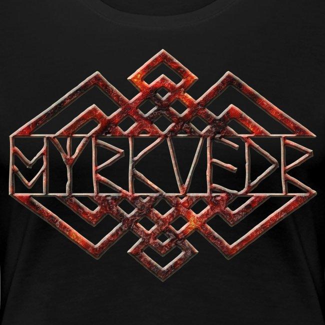 Myrkvedr - Logo (Fire) T-Shirt (Women)