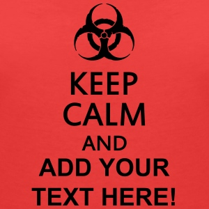 keep calm and toxic  Tee shirts - T-shirt col V Femme